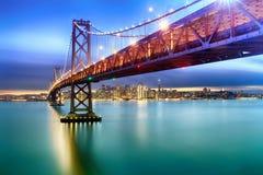 旧金山海湾桥梁  免版税库存图片