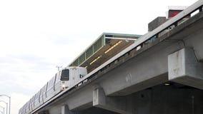 旧金山湾区捷运系统,男爵,咆哮公平的驻地 免版税库存照片