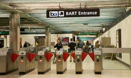 旧金山湾区捷运系统,男爵,鲍威尔街驻地,里面 免版税库存图片