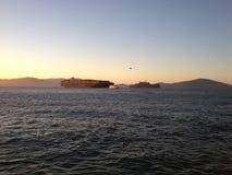 旧金山湾海景水alcatraz 库存图片