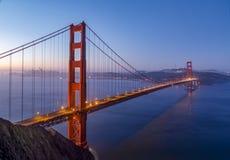 旧金山湾破晓-金门大桥 免版税库存照片