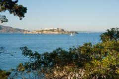 旧金山湾Alcataz海岛 免版税库存照片