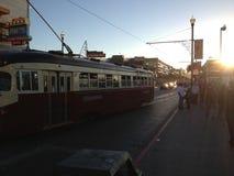 旧金山电车路面电车城市街道 库存图片