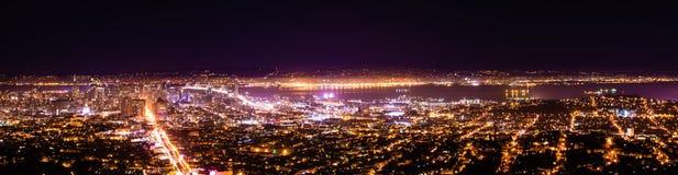 旧金山的夜 免版税库存图片