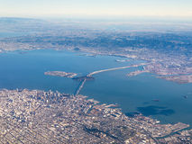 旧金山的航空摄影 库存照片