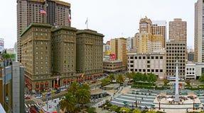 旧金山的著名联合广场 免版税库存图片