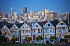 旧金山的被绘的夫人 免版税库存照片