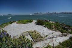 旧金山看法从阿尔卡特拉斯岛,加利福尼亚美国的 库存图片