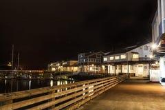 旧金山码头39港在晚上 免版税图库摄影