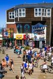 旧金山码头39个夏天乐趣 免版税库存照片
