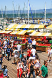 旧金山码头39农夫的市场 免版税库存图片