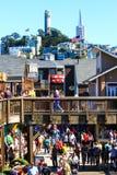 旧金山码头39和地平线 免版税库存照片