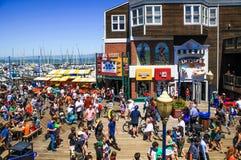 旧金山码头39木板走道 库存照片