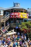 旧金山码头39食物和商店 免版税图库摄影