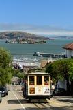 旧金山缆车 图库摄影