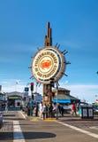 旧金山著名渔人码头  免版税库存照片