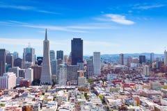 旧金山街市全视图 图库摄影