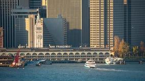 旧金山街市在日出 股票录像