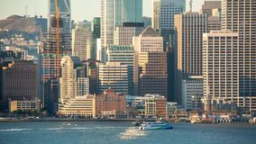 旧金山街市在日出 影视素材