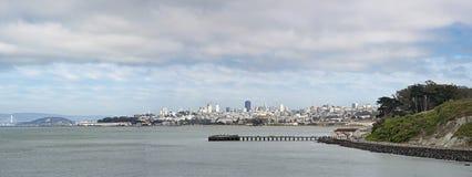 旧金山街市地平线全景 免版税图库摄影