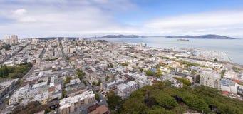 旧金山街市地平线全景 库存照片