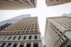 旧金山街市大厦向上看法  库存照片