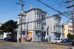旧金山街道看法  免版税库存照片