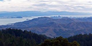 旧金山遥远的看法  库存照片
