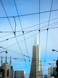 旧金山金字塔大厦地平线 免版税库存图片