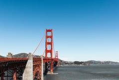 旧金山金门大桥红色柱子 库存照片
