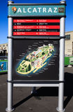 旧金山阿尔卡特拉斯岛地图 库存图片