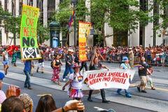 旧金山骄傲游行美国本地人LGBT Gr 库存照片