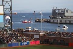 旧金山,加利福尼亚,美国, 2014年10月16日, AT&T停放,棒球场, SF巨人对圣路易斯主教,全国Leag 免版税图库摄影