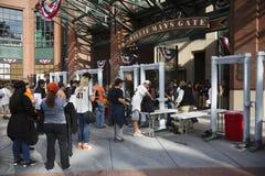 旧金山,加利福尼亚,美国, 2014年10月16日, AT&T停放,棒球场, SF巨人对圣路易斯主教,全国Leag 免版税库存照片