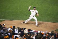 旧金山,加利福尼亚,美国, 2014年10月16日, AT&T停放,棒球场, SF巨人对圣路易斯主教,全国Leag 免版税库存图片