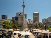 旧金山,加利福尼亚,美国:联合广场市场,街市 免版税图库摄影