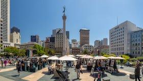 旧金山,加利福尼亚,美国:联合广场市场,街市 免版税库存照片