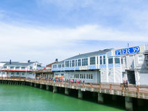 旧金山,加利福尼亚,美国- 2016年5月04日:码头39是一个著名旅游胜地 库存照片