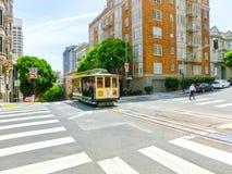 旧金山,加利福尼亚,美国- 2016年5月04日:著名缆车 免版税库存照片