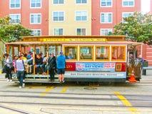 旧金山,加利福尼亚,美国- 2016年5月04日:著名缆车 库存照片