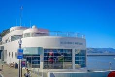 旧金山,加利福尼亚- 2017年2月11日:海博物馆美丽的景色在普遍和文化街市 免版税库存图片