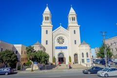 旧金山,加利福尼亚- 2017年2月11日:海教会的星美丽的射击在市中心 免版税库存图片