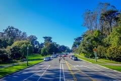 旧金山,加利福尼亚- 2017年2月11日:美丽的金门公园在旧金山,五多数被参观的城市 库存照片
