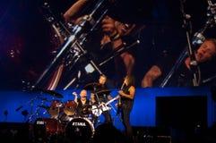 Metallica在Moscone中心2011年 库存照片