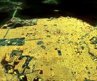旧金山,卫星图, 3d 免版税库存照片