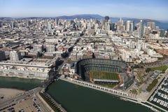 旧金山,美国圣弗朗西斯科巨人体育场 图库摄影