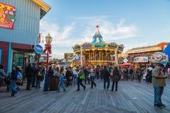 旧金山,美国- 2015年11月21日:码头旧金山39  码头39是购物中心和普遍的旅游参观 免版税图库摄影