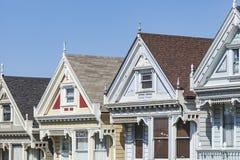 旧金山,美国- 4月07日:阿拉莫斯广场-被绘的Ladie 免版税库存图片
