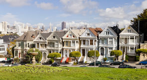 旧金山,美国-被绘的夫人 免版税库存照片