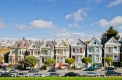 旧金山,被绘的夫人 库存图片